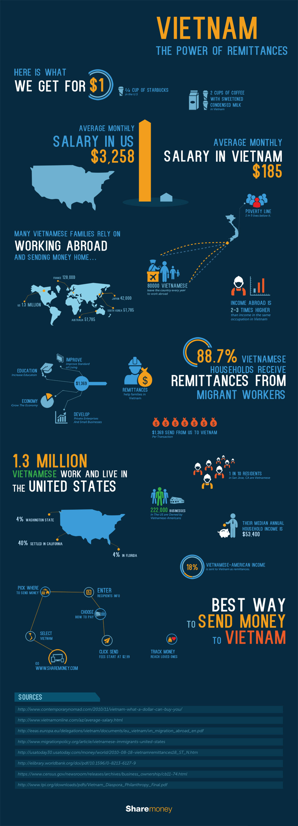 Power of Vietnam Remittances Infographic