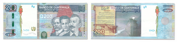 200 Guatemalan Quetzales Bill