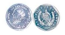 Guatemalan Quetzal 1 Cent Coin