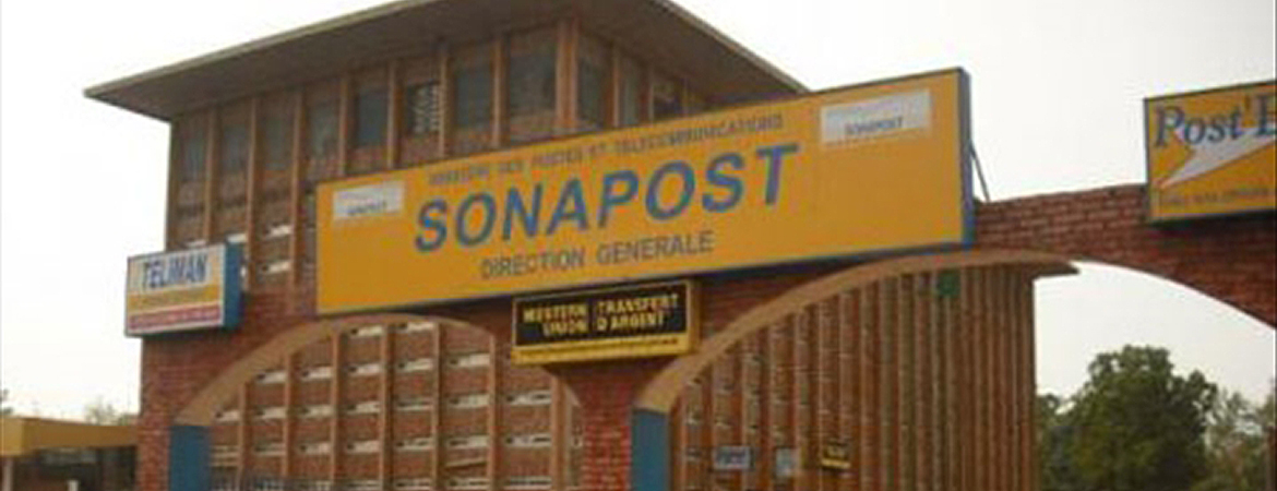 pik up money from Sonapost when you send money online to Burkina Faso